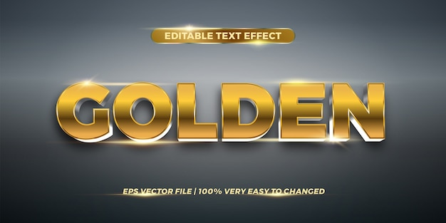 Эффект редактируемого текста - золотая концепция стиля текста