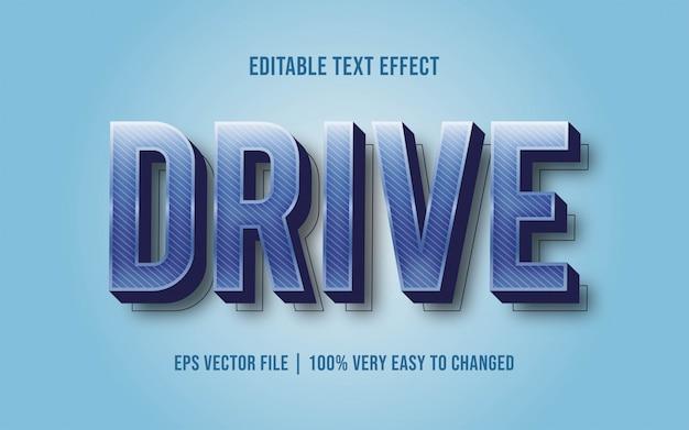 ドライブテキスト効果の編集可能なフォントスタイル