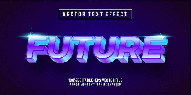 Редактируемый текстовый эффект - концепция стиля будущего текста