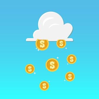 Облака и денежный дождь