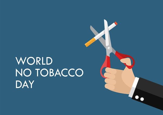 Плакат концепции злоупотребления табаком