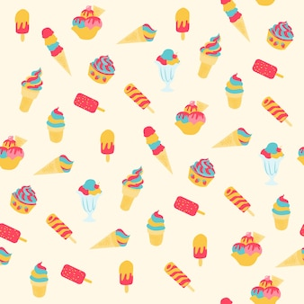 アイスクリームのパターンを印刷する