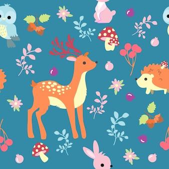 動物のシームレスなパターンを印刷する