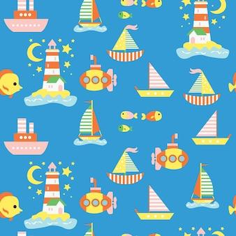 海のパターンを印刷する