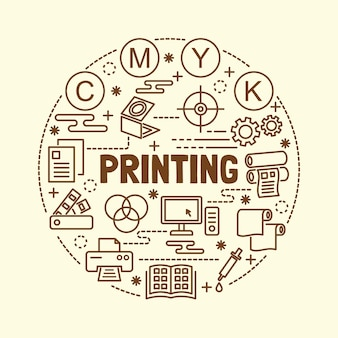 最小細線アイコンを印刷する