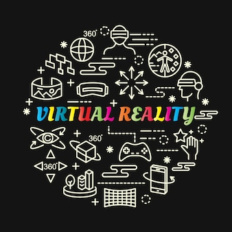 Набор иконок для виртуальной реальности
