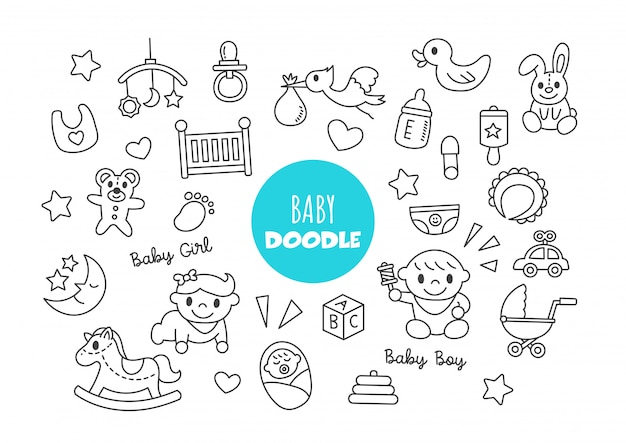 赤ちゃん落書き