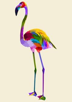Красочный фламинго