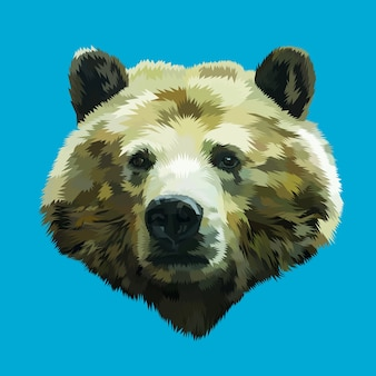 Голова медведя поп-арта
