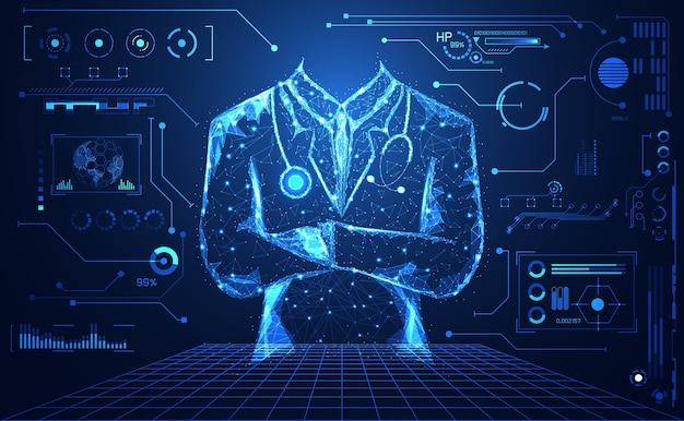Абстрактная медицинская медицинская наука состоит из доктора цифровых