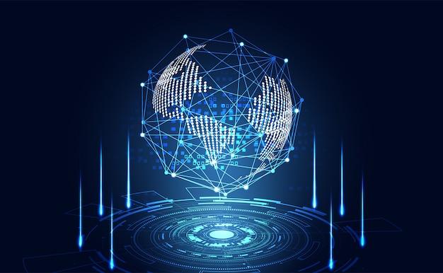 抽象的なテクノロジーの世界デジタル