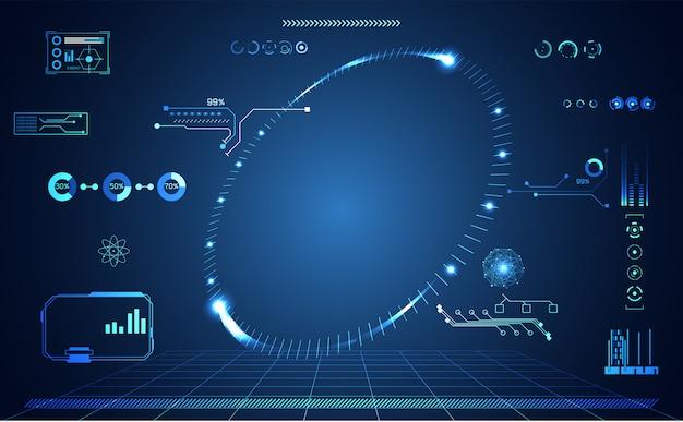 Абстрактная технология и футуристический интерфейс