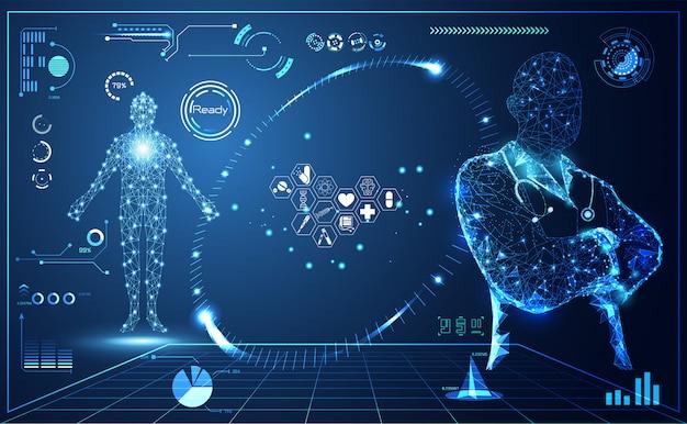 Абстрактное здоровье медицинский интерфейс
