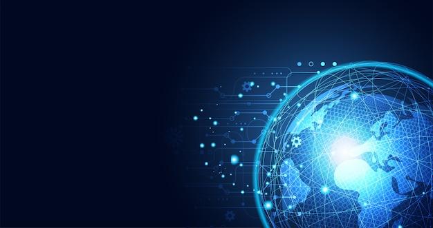 抽象的なグローバルネットワークの背景事業