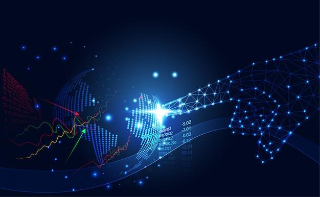 抽象的なテクノロジービジネス世界在庫