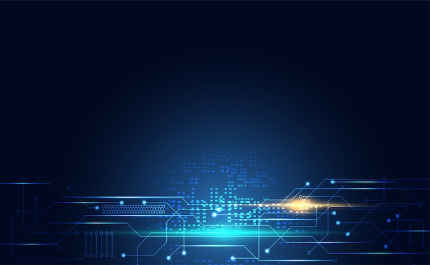 青の現代技術デジタル回路通信