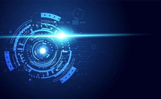青い明るい技術的背景