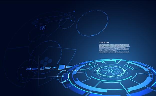 現代の抽象的な技術通信サークルデジタル