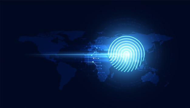 指紋の概念盗難防止
