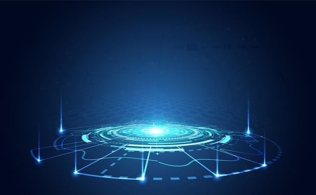 Современная абстрактная концепция технологии связи