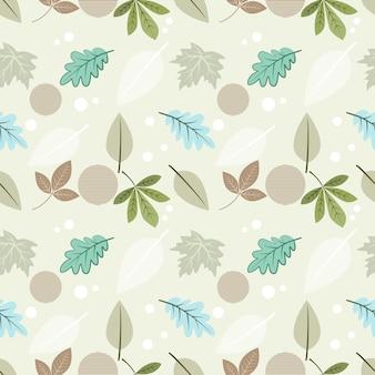布繊維の壁紙の美しい葉のシームレスなパターン。