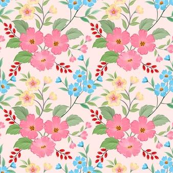 Красочные рисованной цветы шаблон