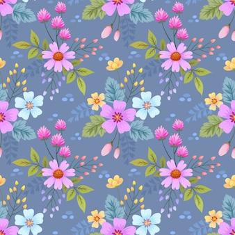 Красочные рисованной цветы шаблон обои