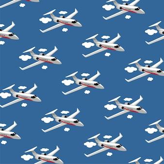 航空機の平面パターン