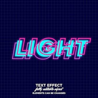 Слоистый шрифт со светящимся эффектом