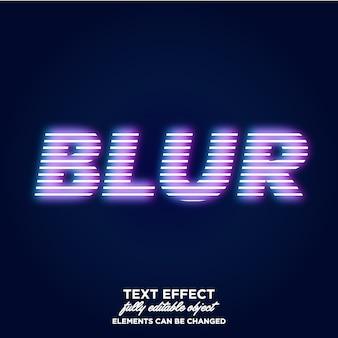 Эффект размытия света текста
