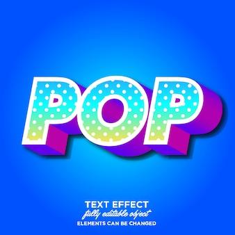 Современный эффект поп-арт шрифта