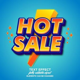 Современный эффект шрифта для продажи