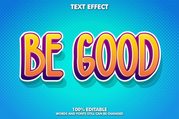 Симпатичный и игривый мультипликационный эффект шрифта