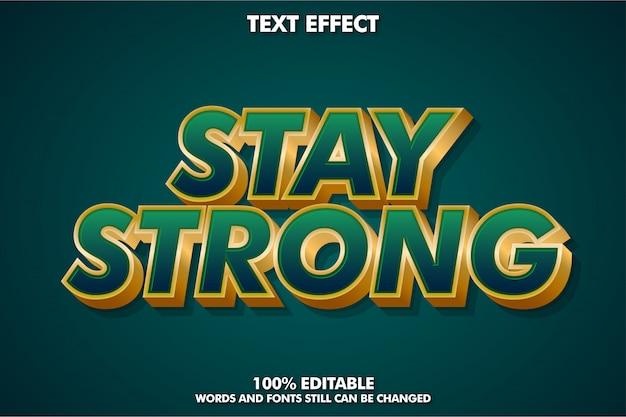 Современное золото и темно-зеленый текстовый эффект