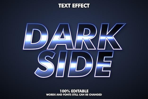 Классный серебряный текстовый эффект, металлический стиль текста