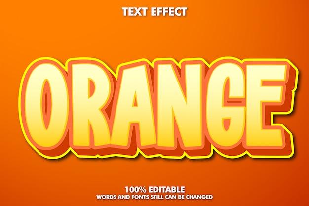 オレンジ色のテキスト効果、コミック漫画のテキストスタイル
