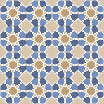 イスラム幾何学的シームレスパターン