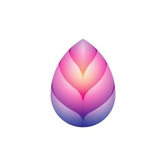 カラフルなモダンロータスヨガのロゴ