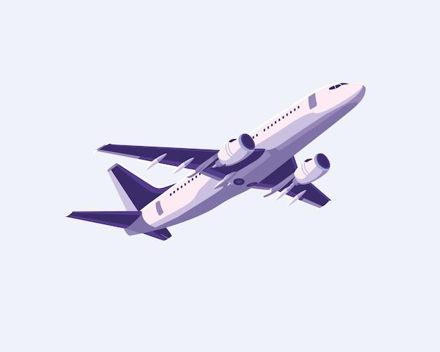 Простой плоский дизайн самолета