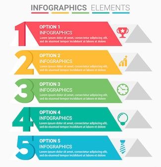 インフォグラフィックビジネス階段