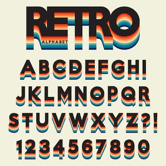 アルファベットの様式化されたレトロなスタイル
