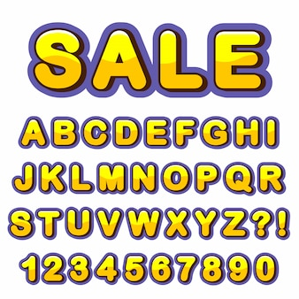 Буква алфавита с номерами в современном стиле