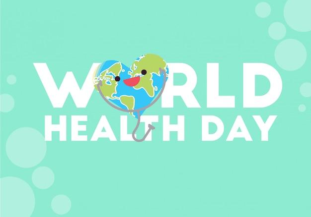 世界保健デーの概念図ベクトル