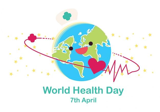 Всемирный день здоровья концептуальные иллюстрации вектор