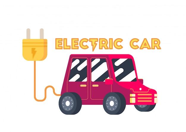 かわいいスマート電気自動車輸送