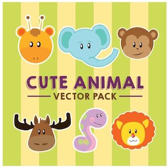 かわいい動物のベクトルパック