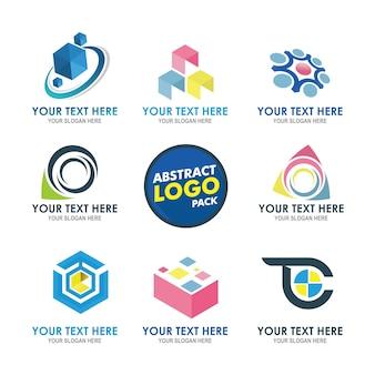 会社の近代的なフラットロゴ