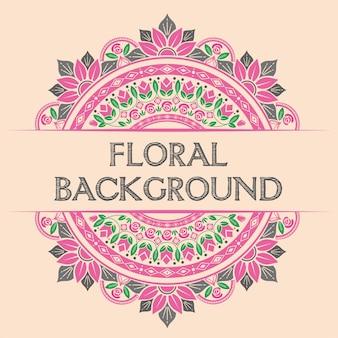 花の背景のデザインコンセプト