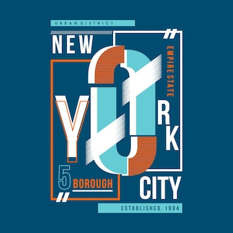 ニューヨーク市のメダンヴィンテージ・タイポグラフィー・デザイン