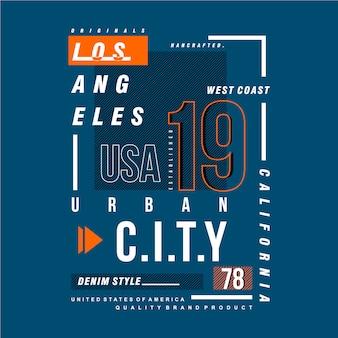 ロサンゼルスのグラフィックデザインの都市のアパレル